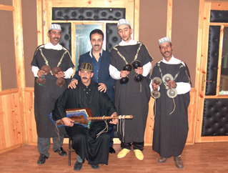 picture of Altaf Gnawa Group - musicians from the album EUCD1922 Gnawa Music from Morocco