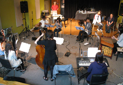 Taiwanese musicians in the studio