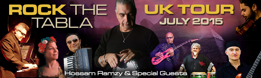 Hossam Ramzy - Rock the Tabla UK Tour banner