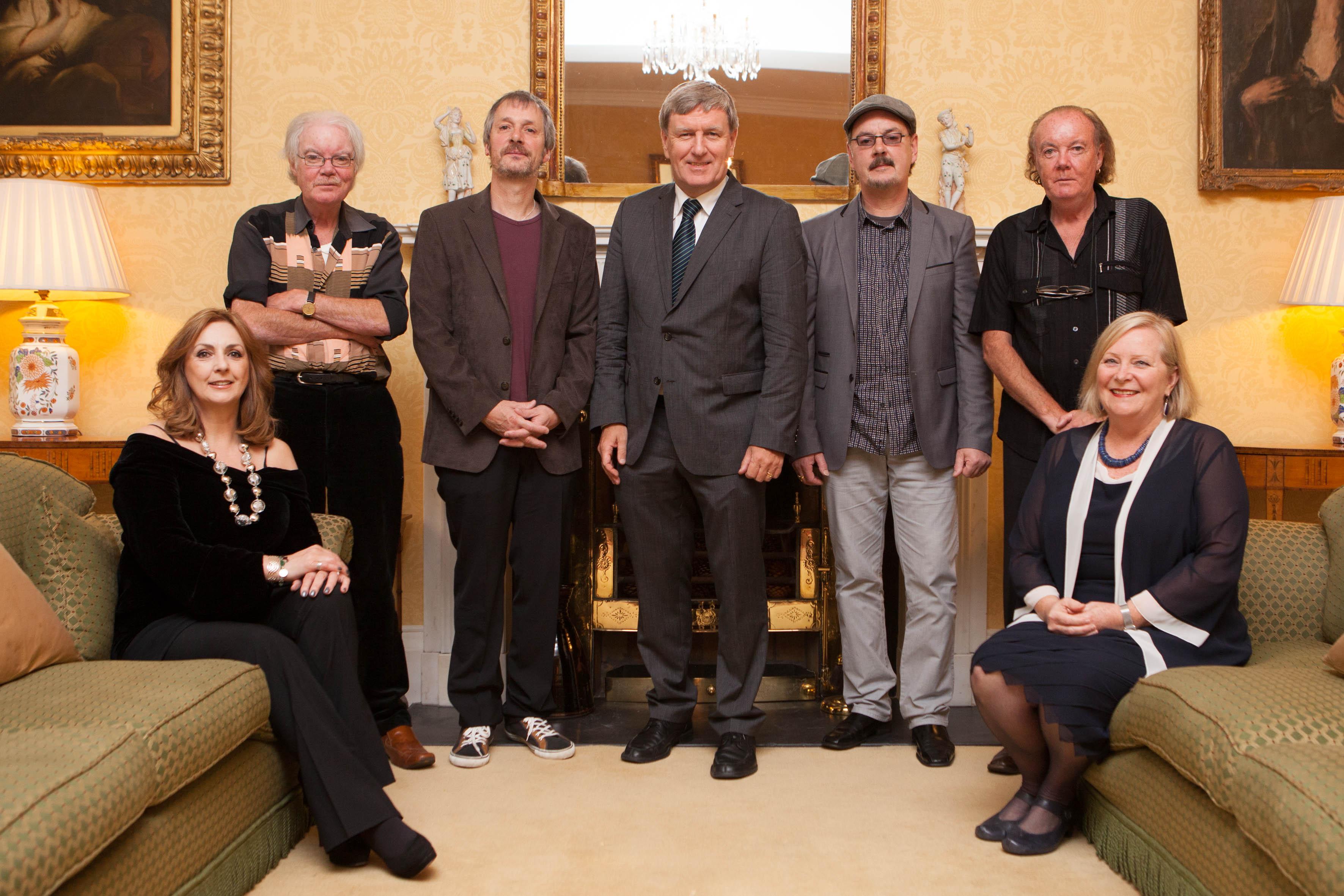 Moya Brennan, Pádraig Duggan, Pól Brennan, Ambassador Daniel Mulhall, Ciarán Brennan, Noel Duggan, Mrs Greta Mulhall